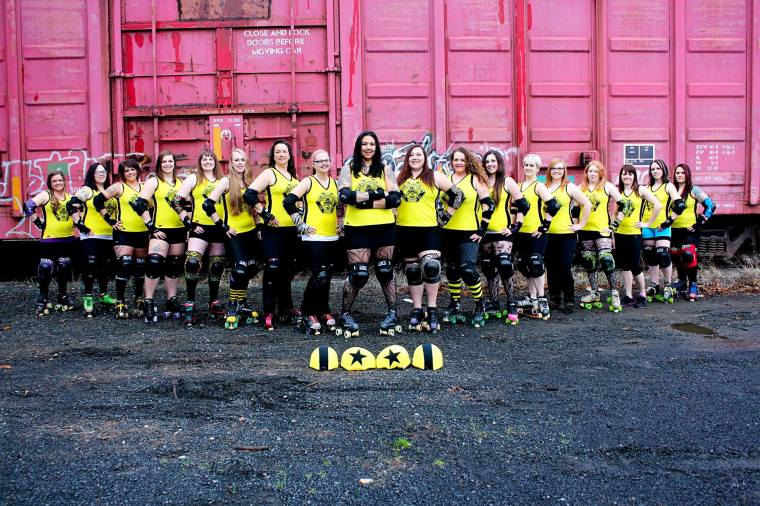 roller derby team pic