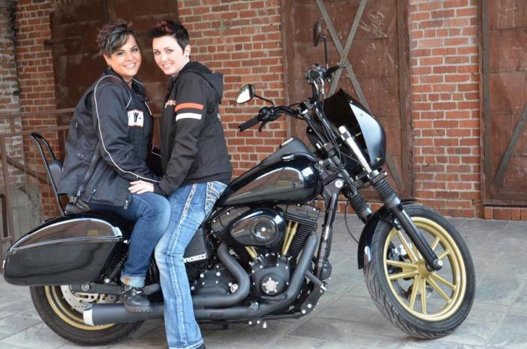 Motorcycle Lesbian Engagement  Photos | The Elle Word Blog
