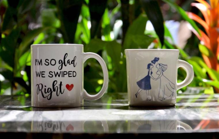 Lesbian Engagement Shoot: Coffee Mugs