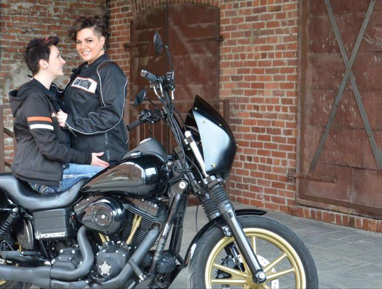 Motorcycle Lesbian Engagement Photo Session | Harley Davidson | The Elle Word BLog